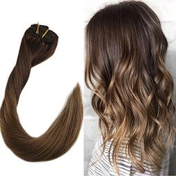 "Full Shine 24"" 7Pcs 120g Per Package Full Head Clip in Ombre"