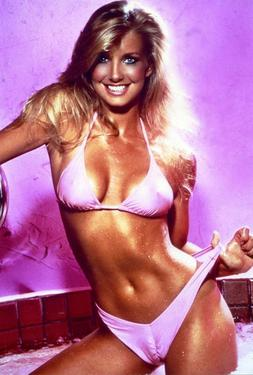 HEATHER THOMAS Poster  Hollywood 80's Stars Hunk Playboy 16