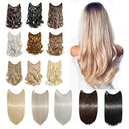 Hidden Invisible Wire in Synthetic Hair Extension 24'' Not C