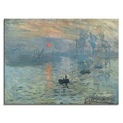 Wieco Art Impression Sunrise Modern Stretched and Framed Gic