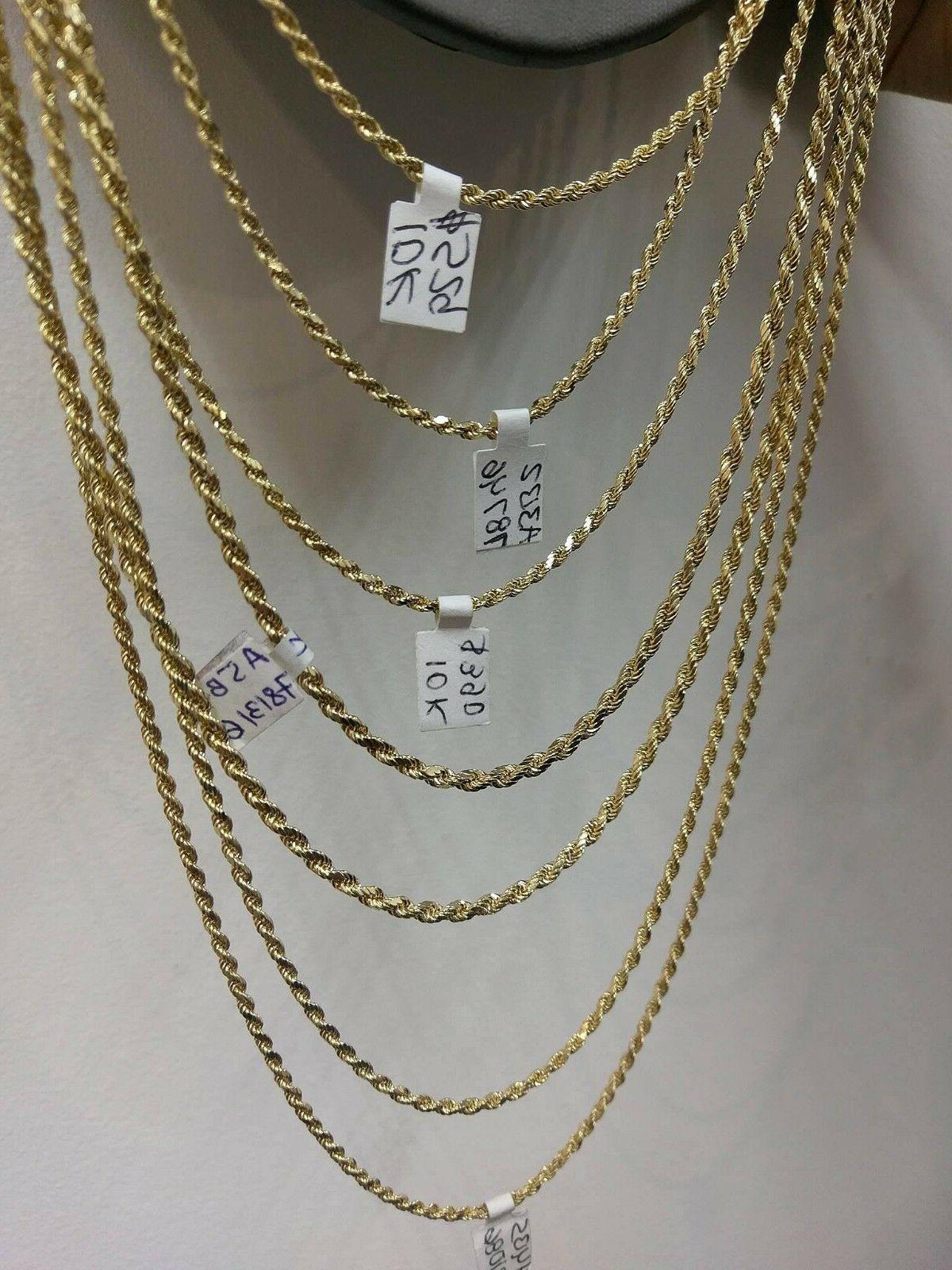 10K Chain Men Women Real 3mm 24 26 Inch REAL