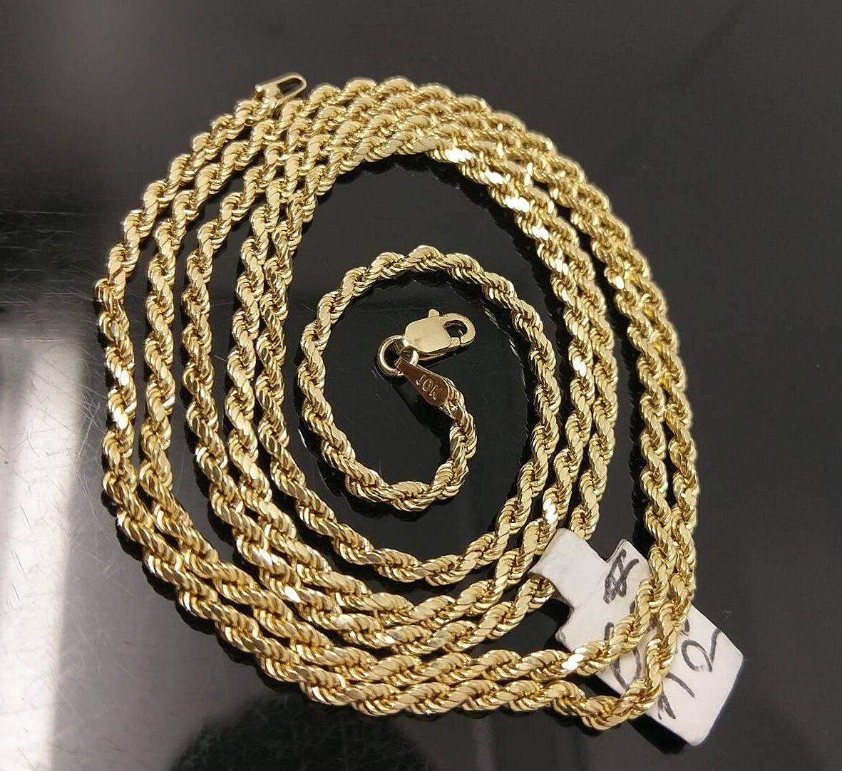 10k gold chain solid men women real