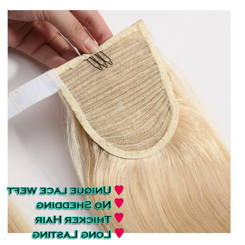 14-24 Clip In Wrap Hair Extensions Hairpiece