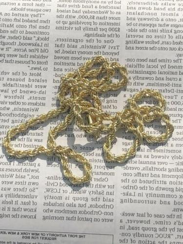 14k Inch Rope Chain Necklace