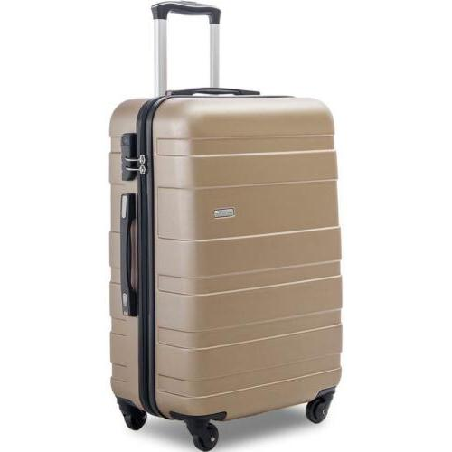 Merax inch Spinner Luggage Suitcase