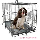 "20""—48"" Dog Crate Kennel Folding Metal Pet Cage 2 Door Ind"