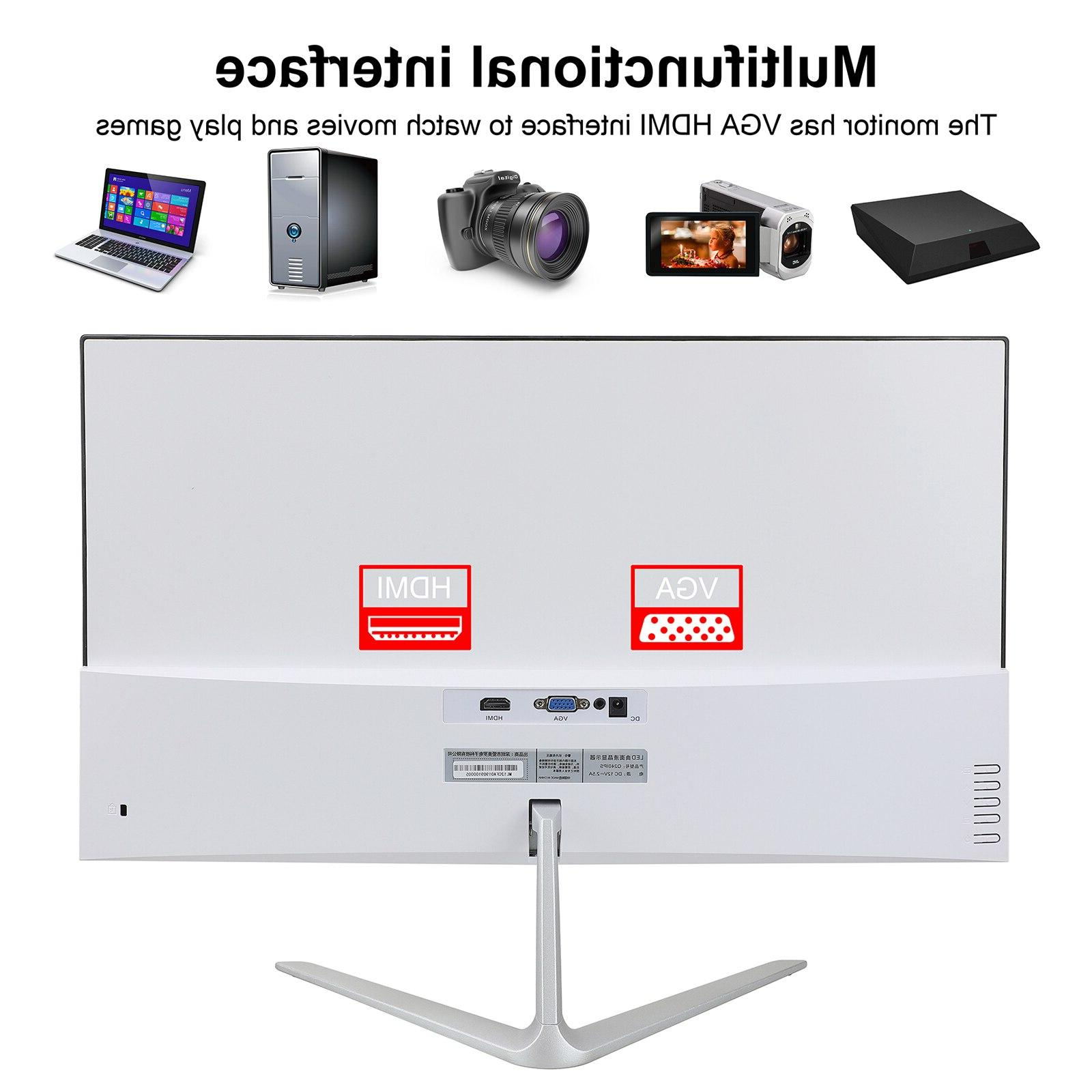 Wearson 23.8 Competition Widescreen LCD Gaming Monitor VGA input WS238H