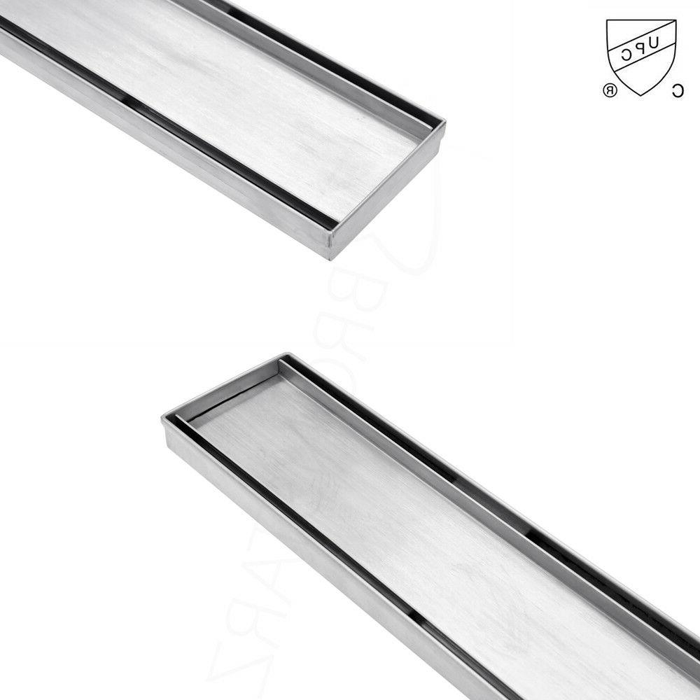 24 / Bathroom Linear Tile Stainless