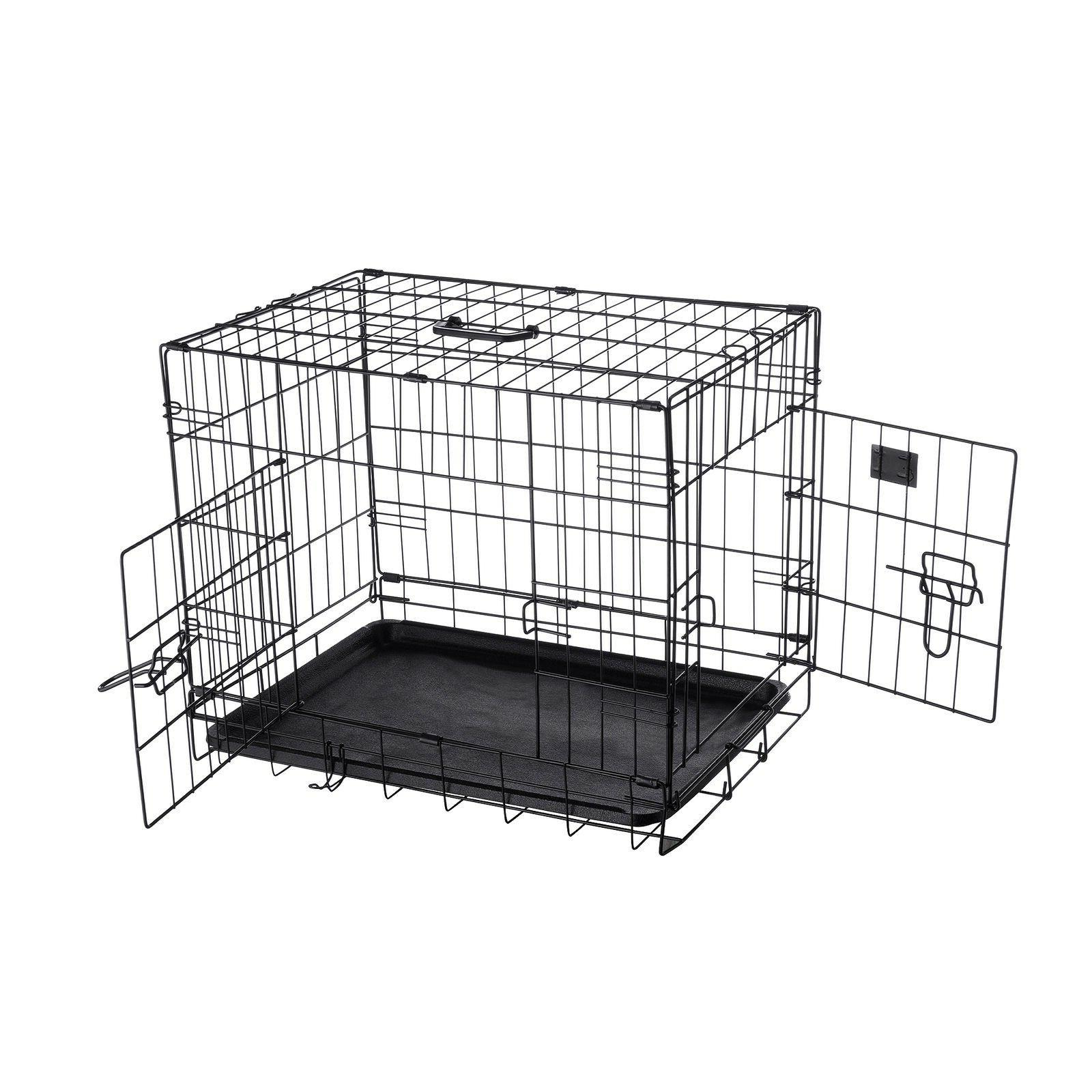 24 folding crate kennel wire