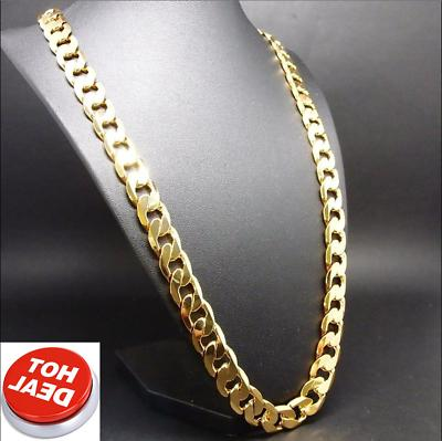 24 Inch Chain Necklace Men Solid Clasp