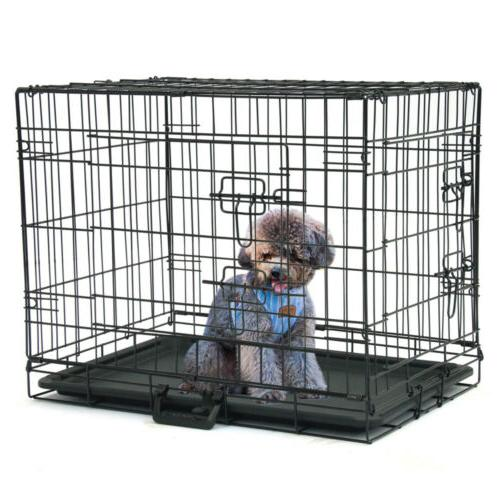 24 inch dog crate kennel folding metal