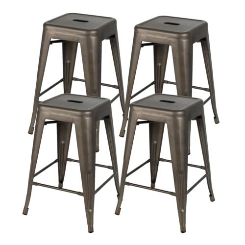 24 Bar Stools Set of 4 Patio Industrial