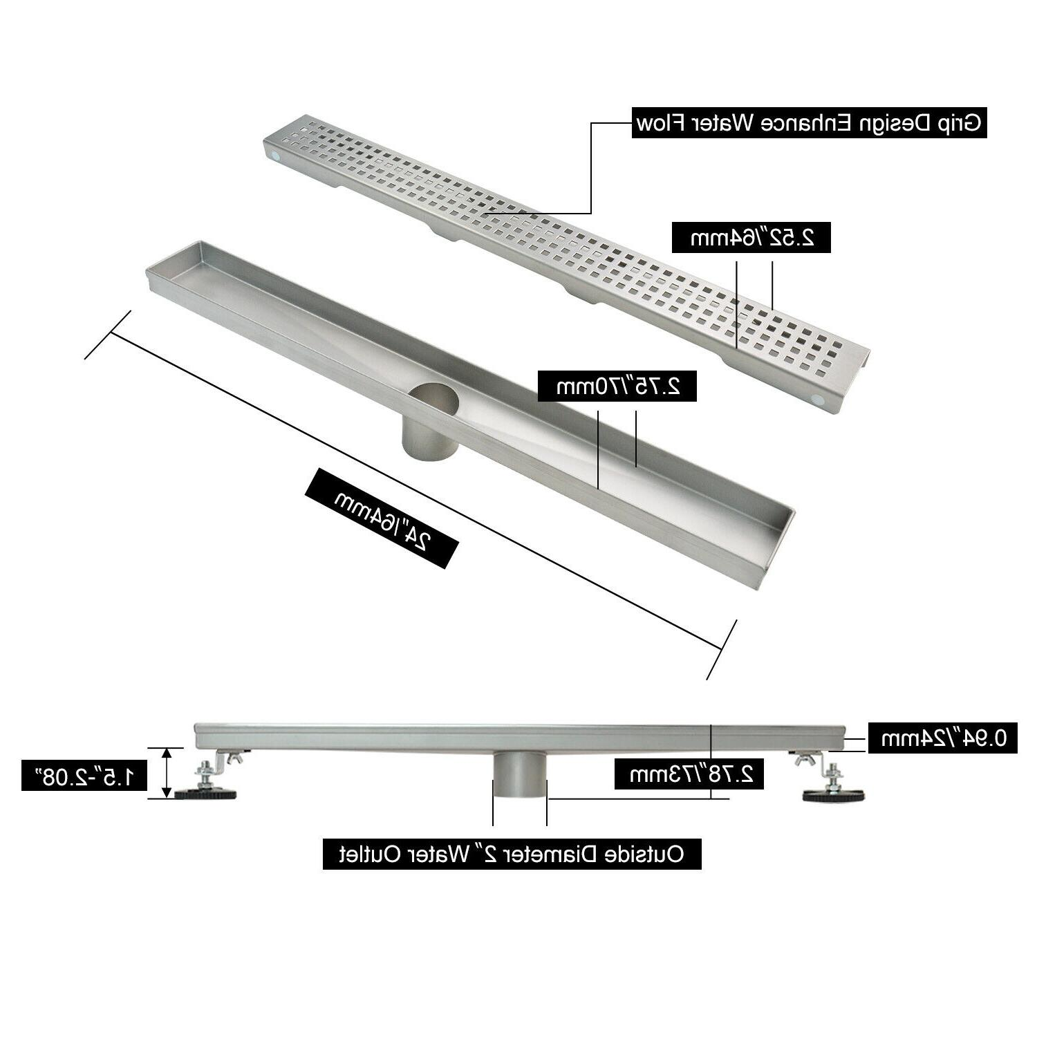 Pattern Shower Drain 304 Stainless