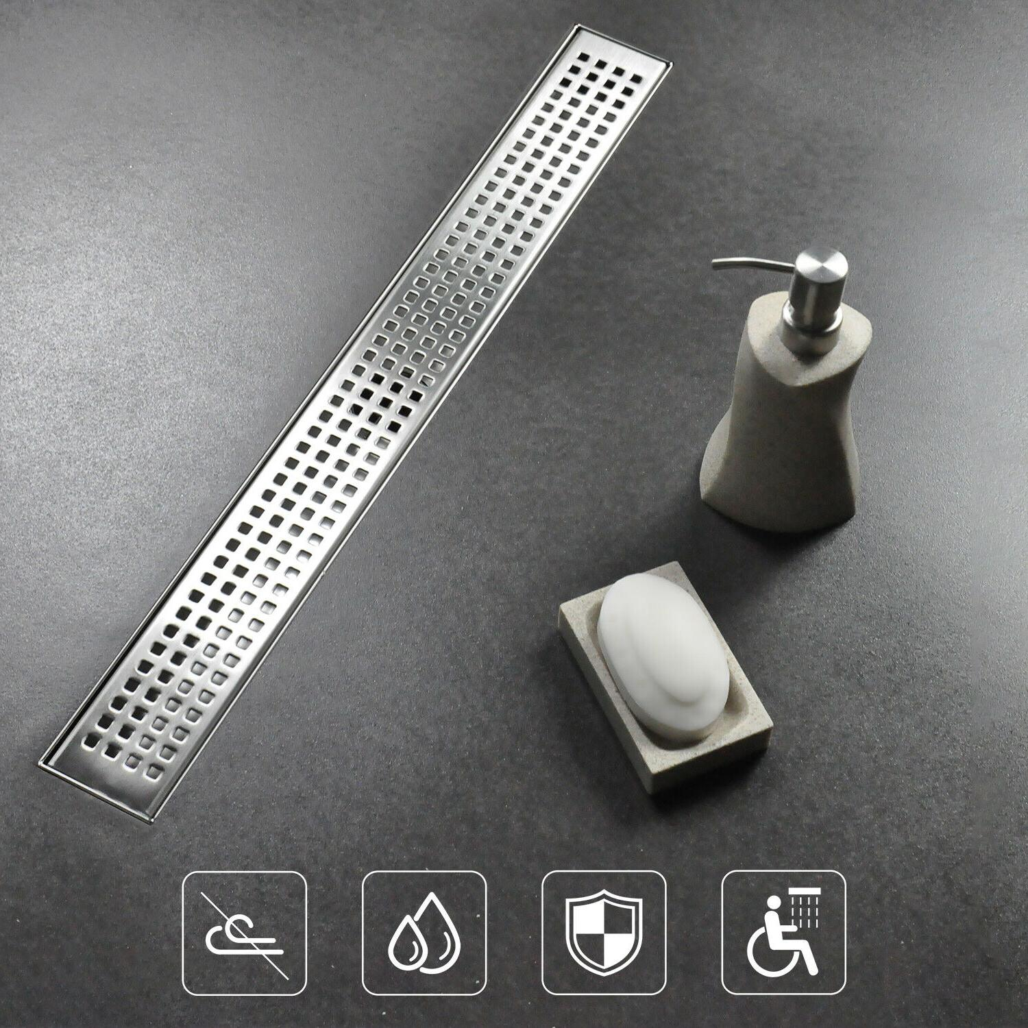 24 inch square hole pattern bathroom linear