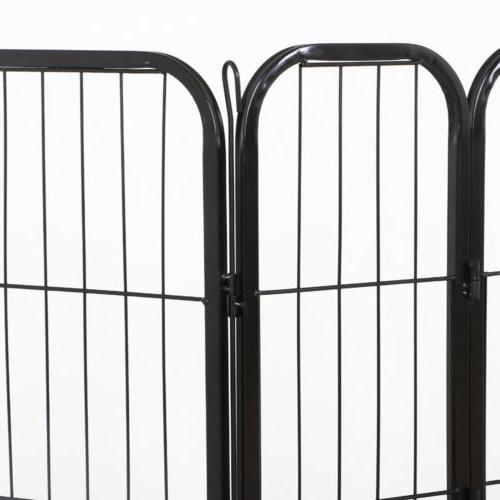 24 Inch Dog Playpen Crate Fence Pet Pen Cage 16