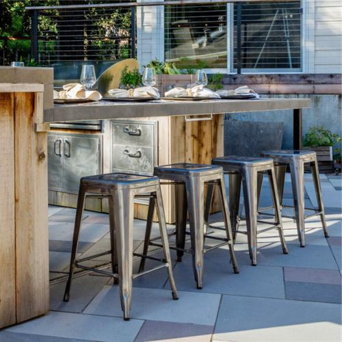stool Stools Backless Stackable of 4