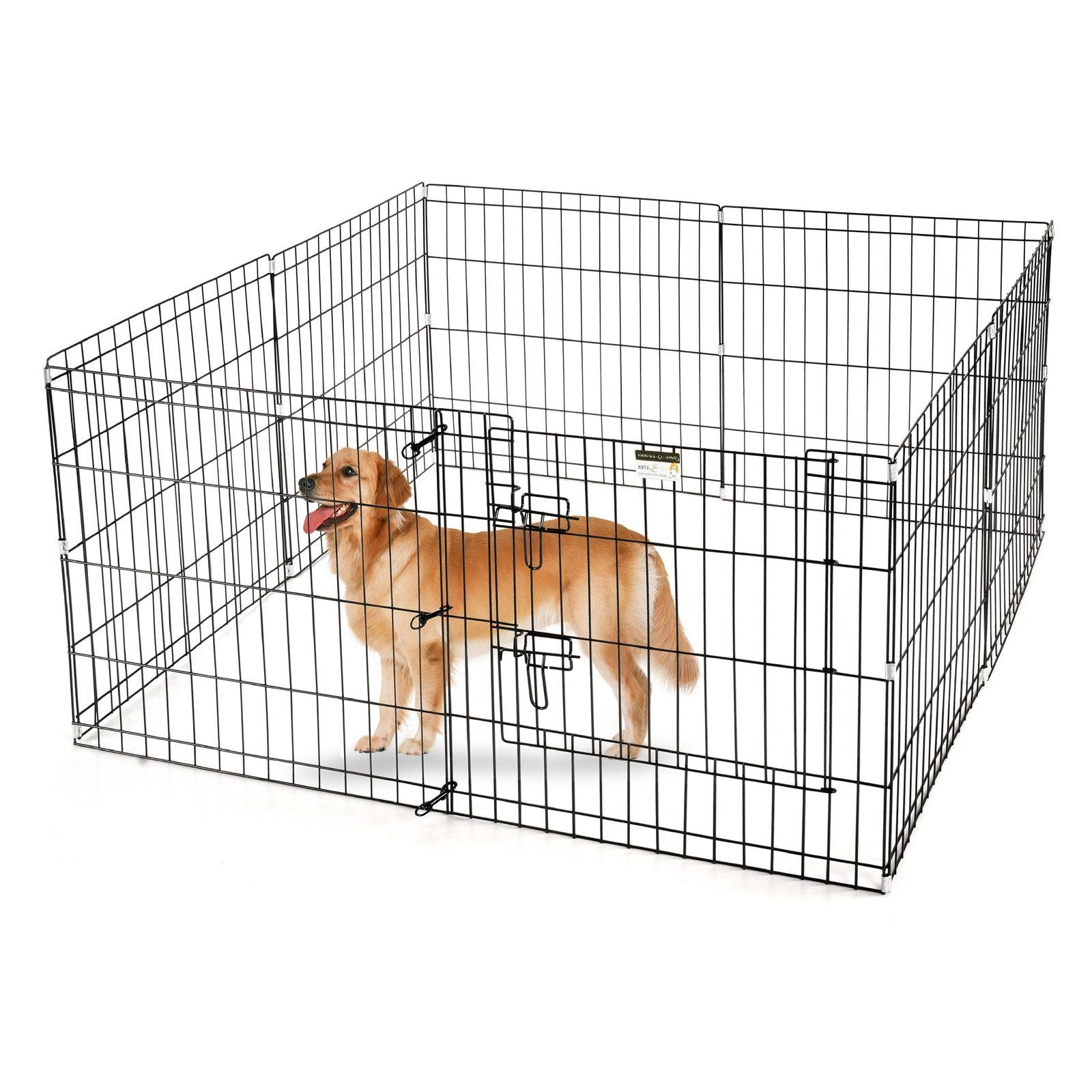 "Pet 24"" Playpen for Pets Dogs Eight Wide"