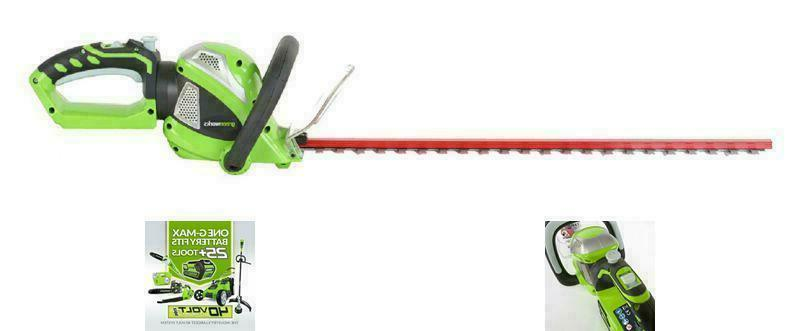 Greenworks 24Inch Cordless Hedge Trimmer with Handle