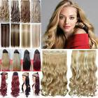 3/4 Full Head One Piece Luxury Thick Blonde Brown Human Hair