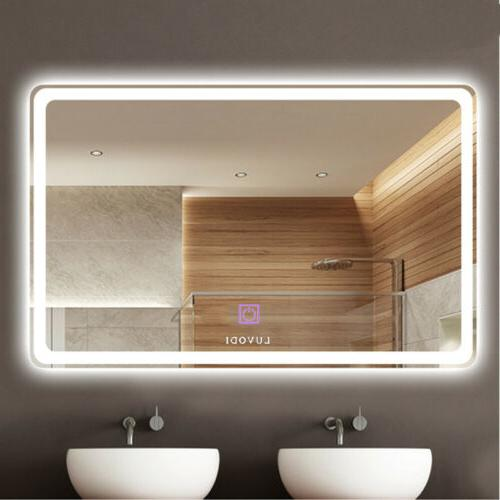 32x24 inch wall mount led lighted bathroom