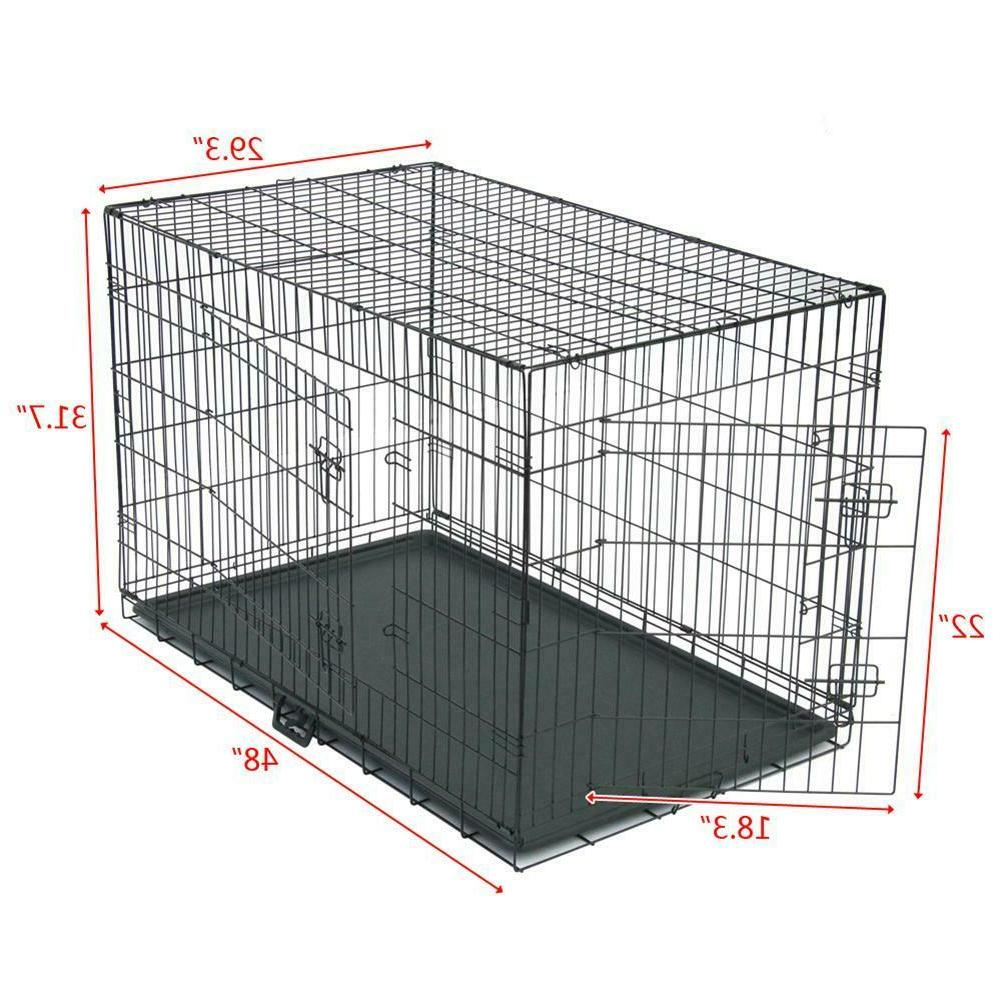 48/42/36/30/24/20 2Door Cage Crate Tray