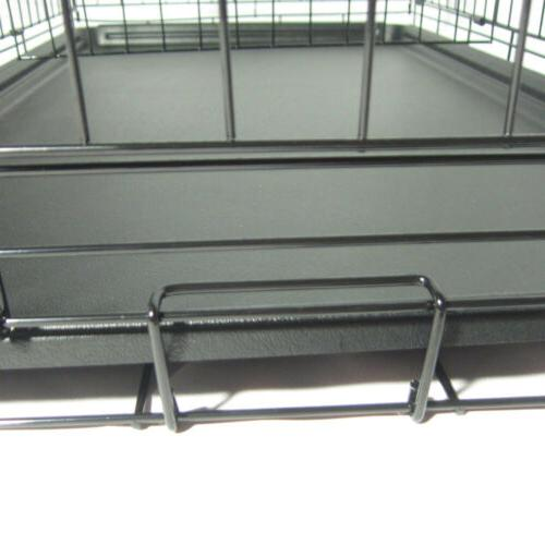 """48""""/42""""/36""""/30""""/24"""" Pet Dog Crate Wire Metal W/Divider"""