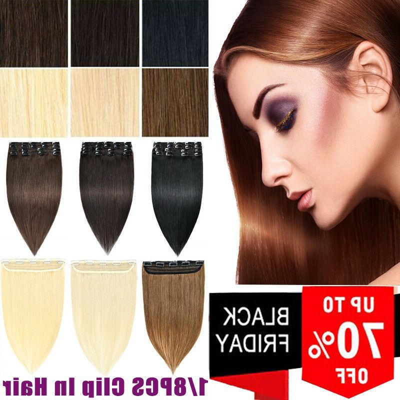 8 24inch clip in human hair extensions