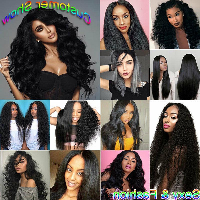 8-24inch Curly Virgin Human Hair Lace Front Women