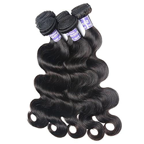 Semmely Brazilian Hair 3 Bundles 20 22 24 Unprocessed Virgin Bundles Human Hair Black