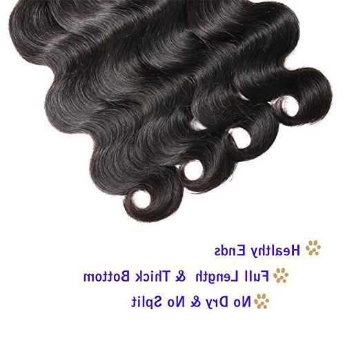 Semmely Brazilian 3 Bundles Body 20 Unprocessed Hair Human Hair Black