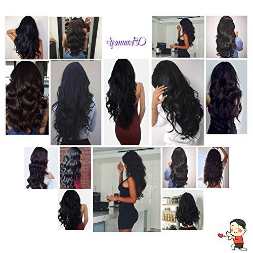 Semmely Brazilian 3 Bundles 20 inch Unprocessed Virgin Bundles Black Color