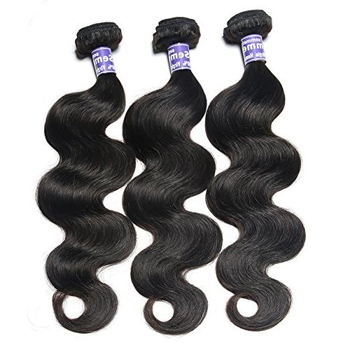 Semmely 3 Wave 20 inch Unprocessed Virgin Hair Bundles Human Hair Black