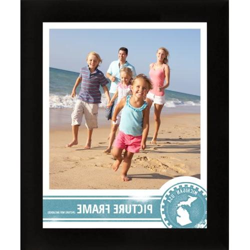 Craig 1WB3BK 18 by 24-Inch Picture Frame, Smooth 1-Inch Wide,