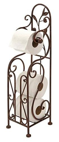 Deco 79 Metal Toilet Paper Holder, 24 by 8-Inch, Reddish/Bro
