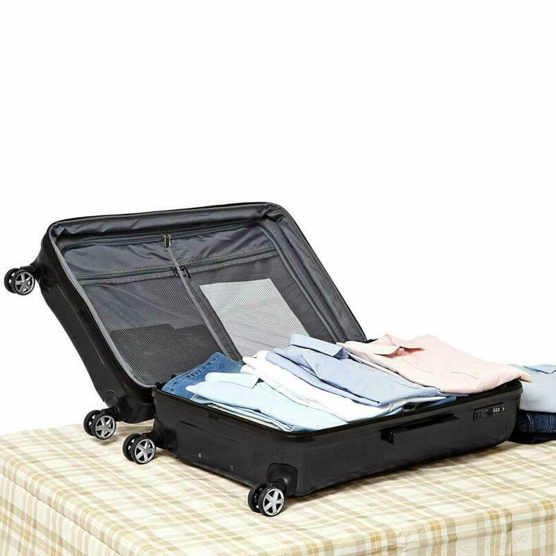 AmazonBasics Oxford Suitcase Spinner with Lock