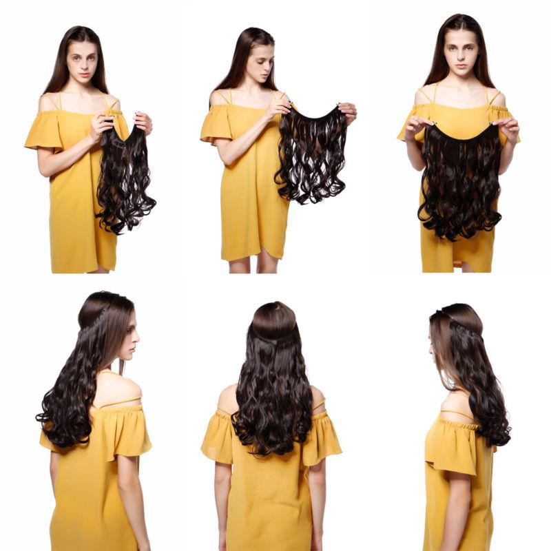 ANY In NO Human Hair Extension Invisible 20-24