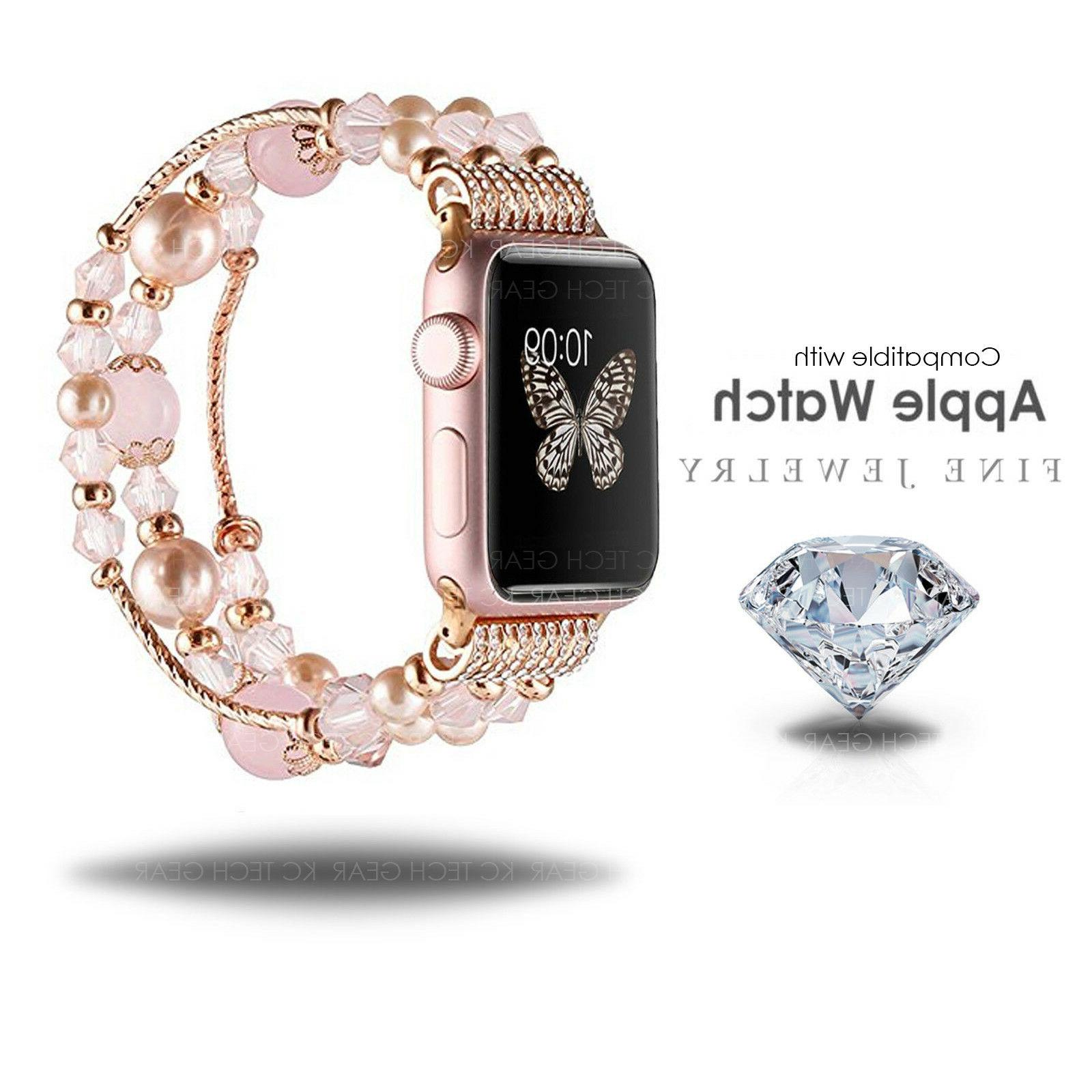 Compatible with Apple Watch Women's 38mm 42mm Jewelry Band