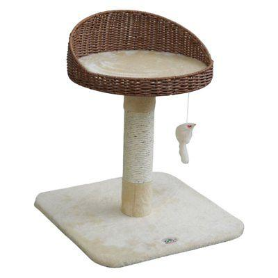 cupped 24 5 in cat tree beige
