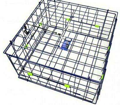 deluxe folding crab trap 24 inch blue