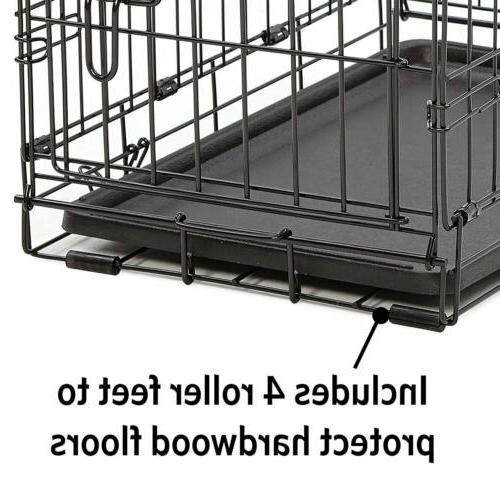 MidWest Homes for Pets Dog Crate | Single &Double Folding Metal