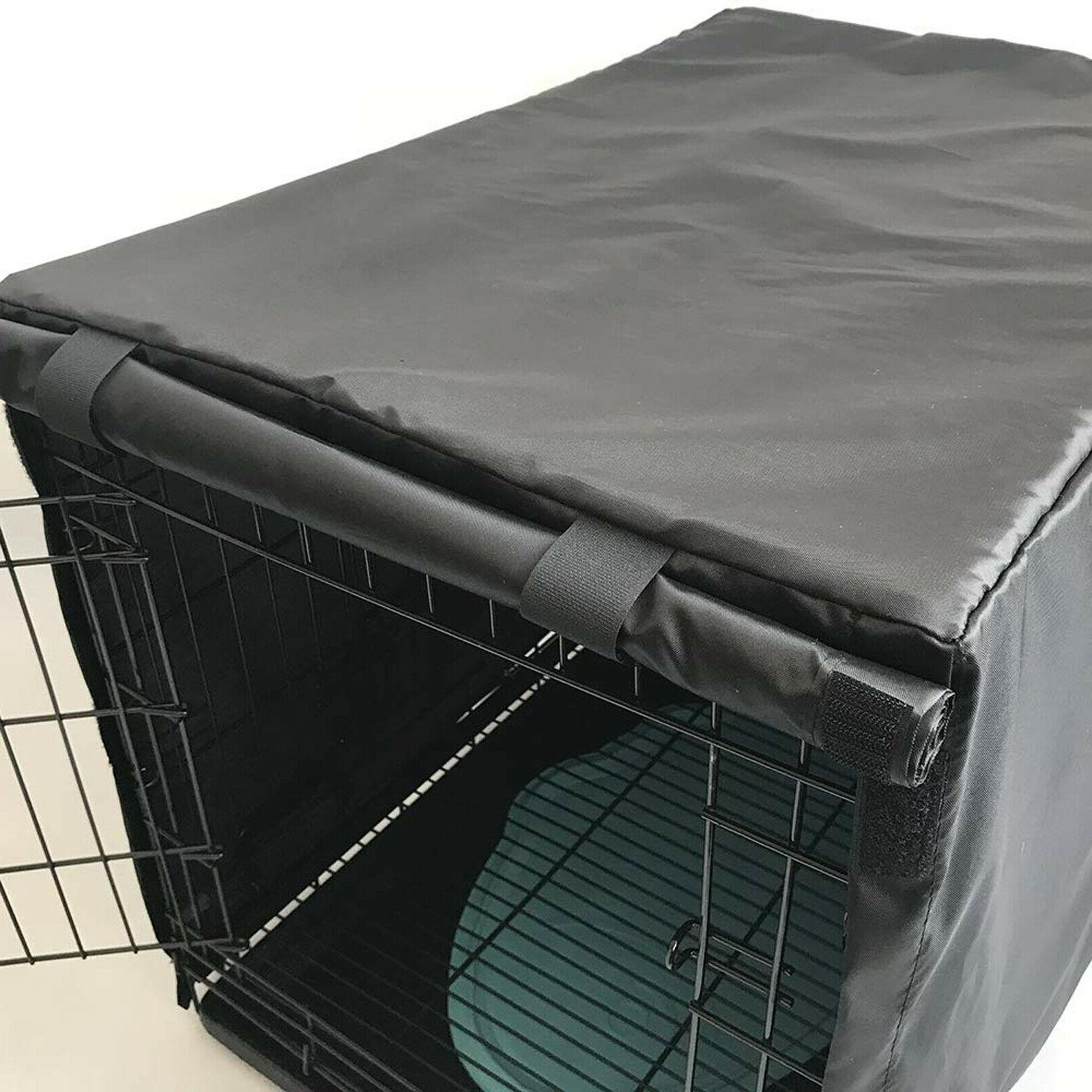 "Dog Cage Kennel COVER Black Quiet Time 48""/42""/36""/24""/"