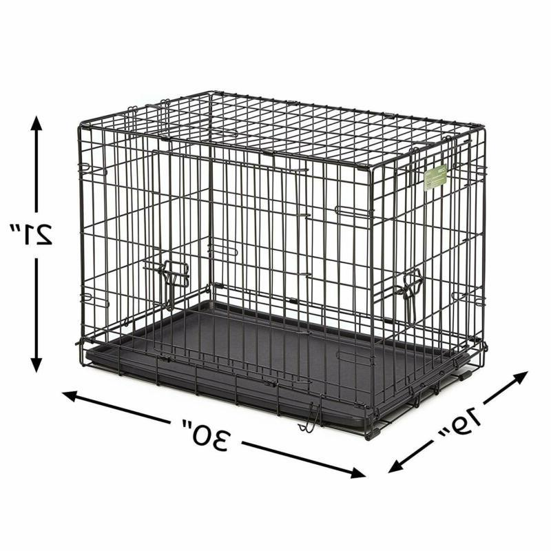 Dog Crate With Panel Double Door Small