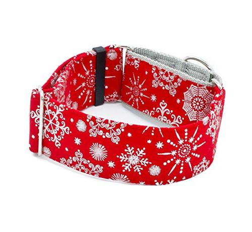 dog red holiday snowflakes width