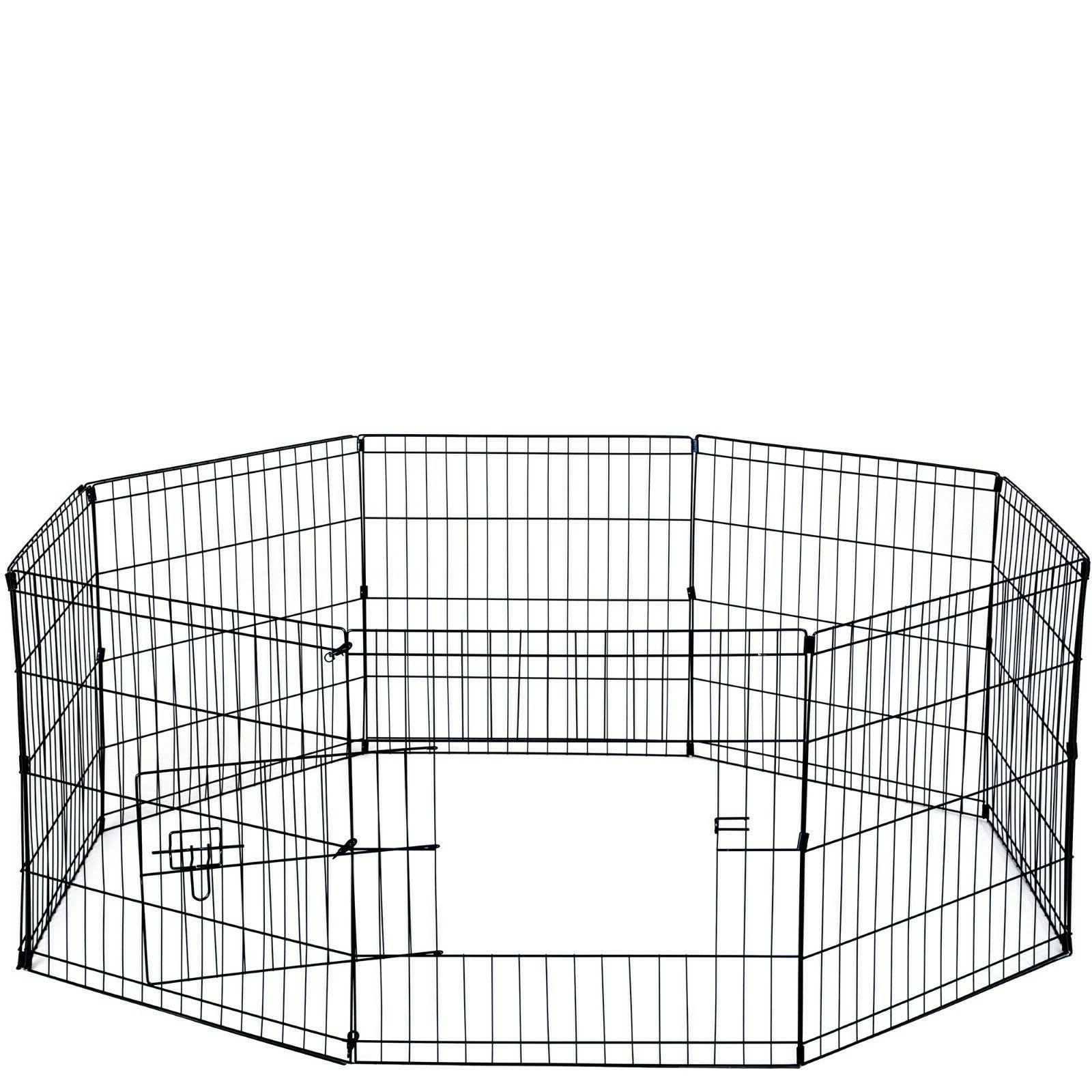 dogs exercise puppy playpen fence outdoor pet
