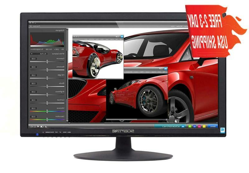 Sceptre E248W-1920 24 Inch Led 1080P Monitor With Speakers H