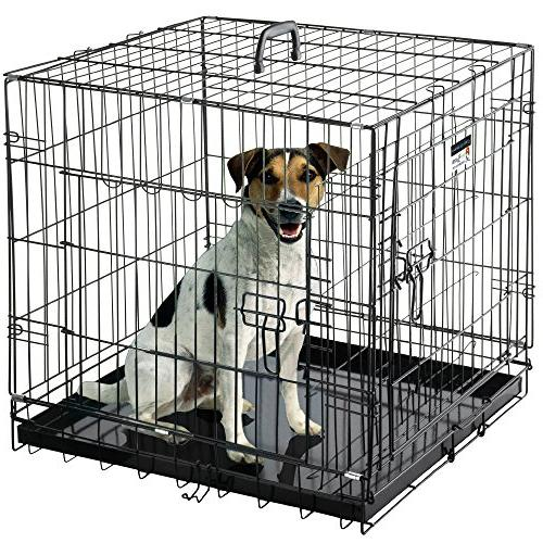 "Pet Trex Premium Quality 24"" Folding Heavy Duty Pet Crate Ke"