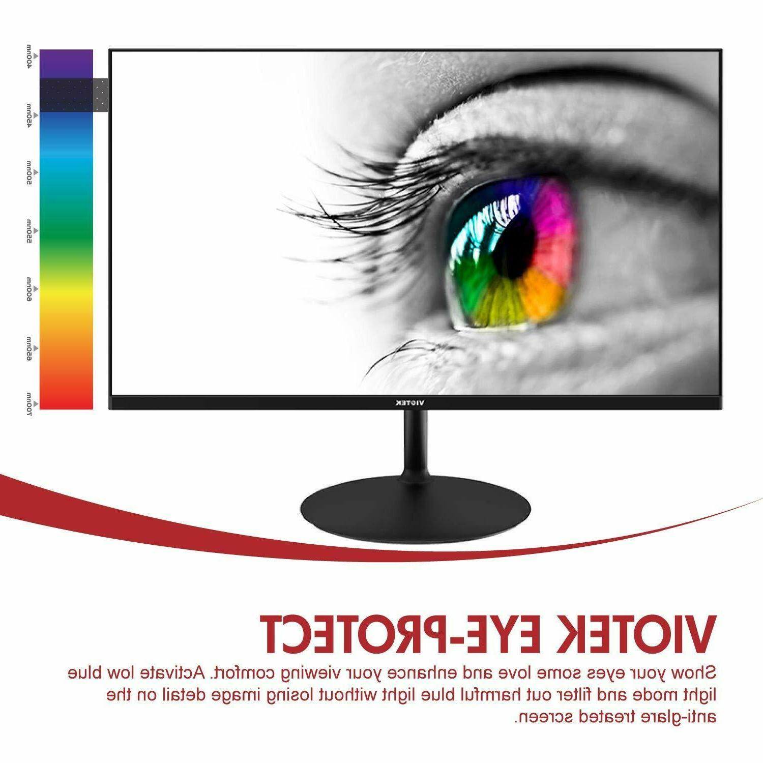 VIOTEK GFV24C Ultra-Thin 144Hz Monitor 1080P FreeSync HDMI