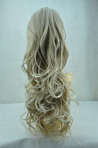 """24"""" & 160g 27 Colors Piece Ponytail Extension & Curled Heat-Resisting Colours 16T613"""