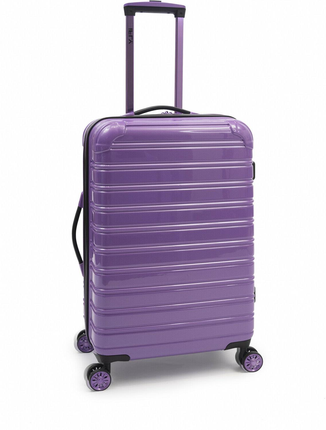 hardside spinner suitcase rolling luggage 24 inch