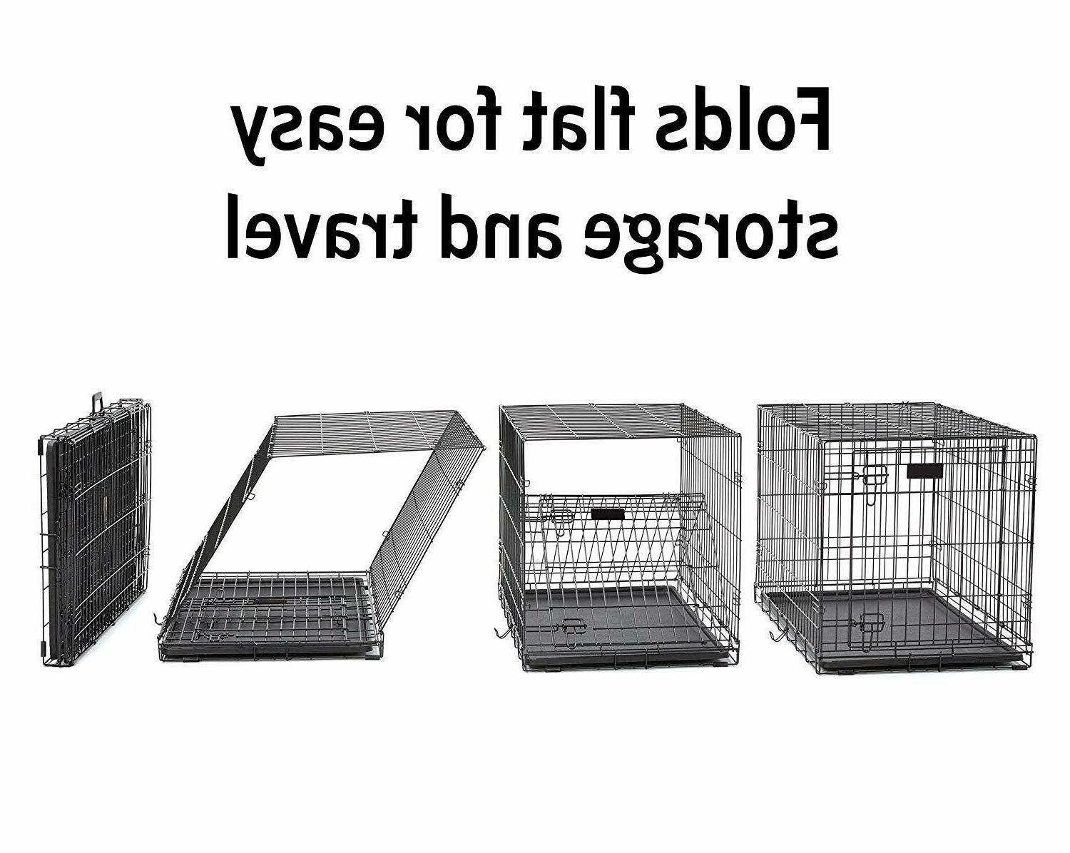 MidWest Dog Crate iCrate Single Door & Double Folding Metal.